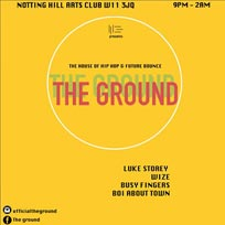 The Ground at Notting Hill Arts Club on Sunday 25th September 2016