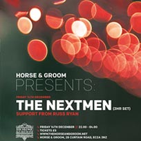 The Nextmen at Horse & Groom on Friday 14th December 2018