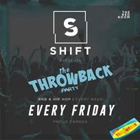 The Throwback Party at Proud Camden on Friday 28th October 2016