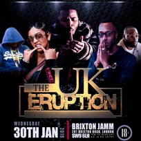 The UK Eruption at Brixton Jamm on Wednesday 30th January 2019
