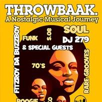 Throwbaak at 100 Club on Saturday 10th September 2016