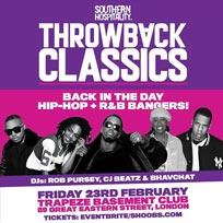 Throwback Classics at Trapeze on Friday 23rd February 2018