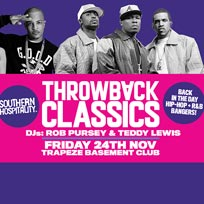 Throwback Classics! at Trapeze on Friday 24th November 2017