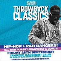 Throwback Classics at Trapeze on Friday 28th September 2018