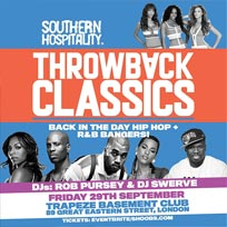 Throwback Classics! at Trapeze on Friday 29th September 2017
