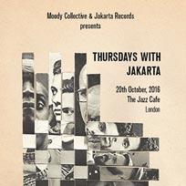 Thursdays with Jakarta at Jazz Cafe on Thursday 20th October 2016
