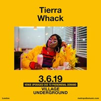 Tierra Whack at Village Underground on Monday 3rd June 2019