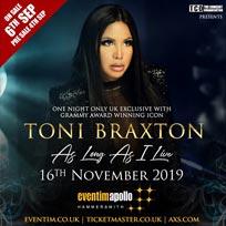Toni Braxton at Hammersmith Apollo on Saturday 16th November 2019