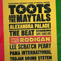 Toots & The Maytals at Alexandra Palace on Saturday 8th September 2018