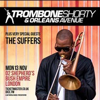 Trombone Shorty at Shepherd's Bush Empire on Monday 13th November 2017