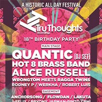 Tru Thoughts 18th Birthday Party at The Roundhouse on Saturday 21st October 2017