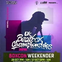 UK Beatbox Championships at Battersea Arts Centre on Friday 26th October 2018