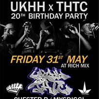 UKHH.com x THTC 20th Birthday Party!  at Rich Mix on Friday 31st May 2019