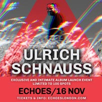 Ulrich Schnauss at TripSpace Projects on Wednesday 16th November 2016