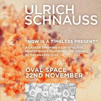 Ulrich Schnauss at Oval Space on Thursday 22nd November 2018