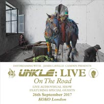 Unkle at KOKO on Tuesday 26th September 2017