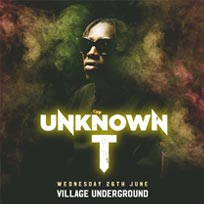Unknown T at Village Underground on Wednesday 26th June 2019