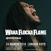 Waka Flocka Flame at XOYO on Wednesday 14th March 2018
