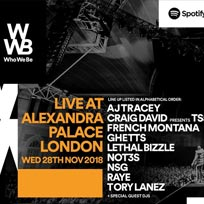Who We be at Alexandra Palace on Wednesday 28th November 2018