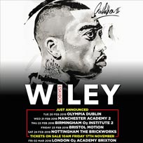Wiley at SJM Concerts on Friday 2nd March 2018