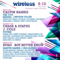 Wireless Festival Friday at Finsbury Park on Friday 8th July 2016