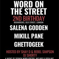 Word on the Street at Boondocks on Wednesday 5th September 2018