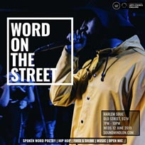Word on the Street at Harlem Soul on Wednesday 12th June 2019