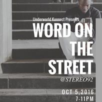 Word on the Street at Stereo92 on Wednesday 5th October 2016