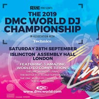 The DMC World DJ Championship 2019 at Islington Assembly Hall on Saturday 28th September 2019