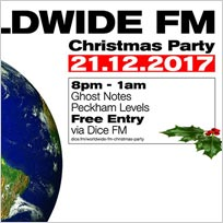 Worldwide FM Christmas Party at Ghost Notes on Thursday 21st December 2017