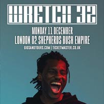 Wretch 32 at Shepherd's Bush Empire on Monday 11th December 2017