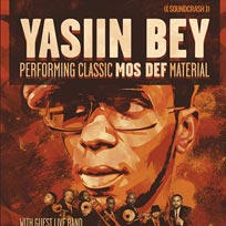 Yasiin Bey + Hypnotic Brass Ensemble at The Forum on Friday 14th October 2016