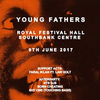Young Fathers at Royal Festival Hall on Friday 9th June 2017