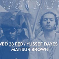 Yussef Days & Mansur Brown at Ghost Notes on Wednesday 28th February 2018