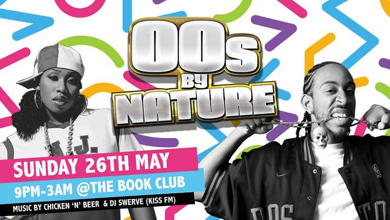 00's By Nature at Book Club on Sun 26th May 2019 Flyer