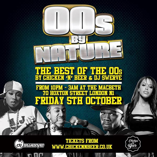 00's By Nature at The Macbeth on Friday 5th October 2018 Flyer