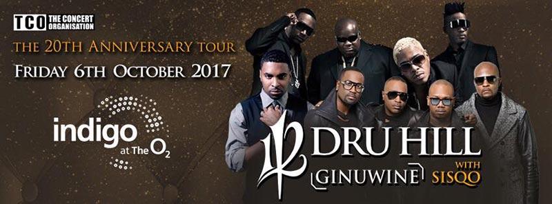 112 / Dru Hill / Ginuwine at Indigo2 on Fri 6th October 2017 Flyer
