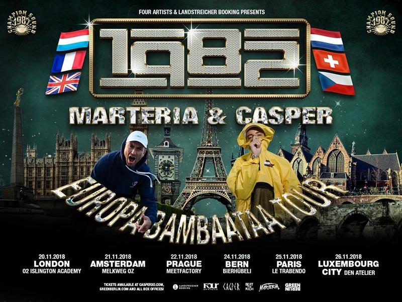 Marteria & Casper at Islington Academy on Tue 20th November 2018 Flyer