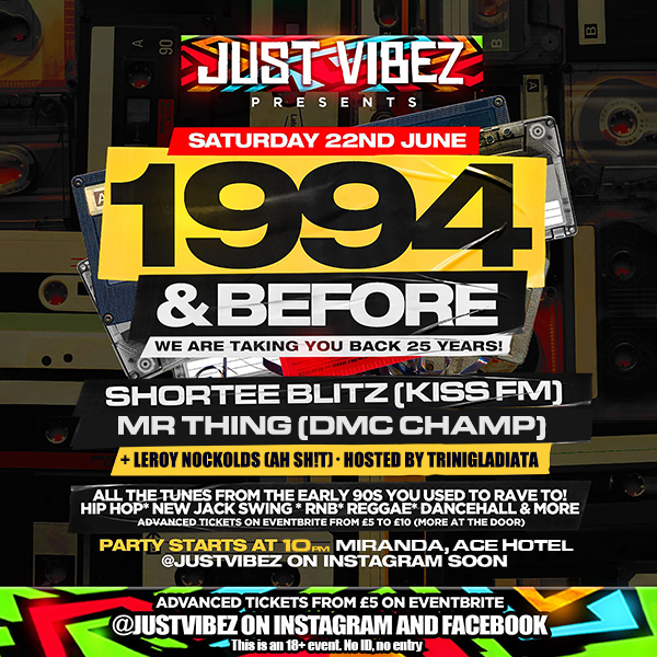 1994 and before! at Secret Location on Sat 22nd June 2019 Flyer