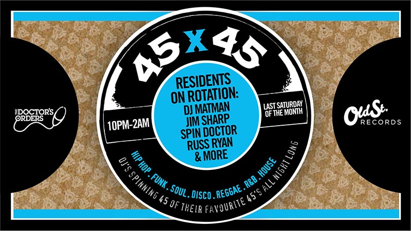 45 x 45s  at Old Street Records on Sat 29th June 2019 Flyer