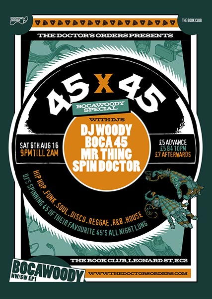 45 x 45 at Trapeze on Saturday 6th August 2016 Flyer