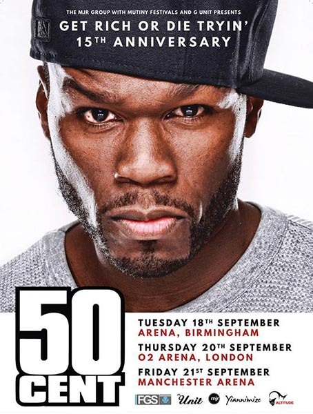 50 Cent at The o2 on Thu 20th September 2018 Flyer