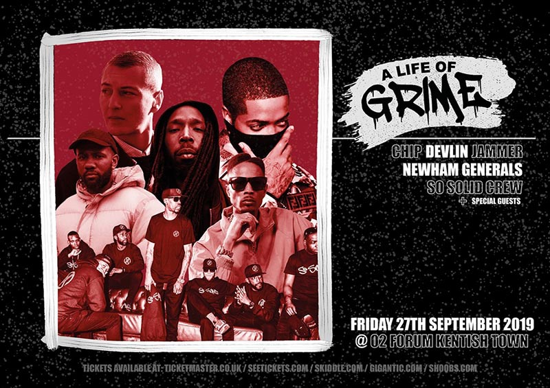 A Life of Grime at The Forum on Fri 27th September 2019 Flyer