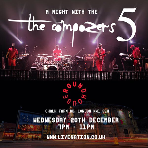 A Night With The Compozers 5 at The Roundhouse on Wed 20th December 2017 Flyer
