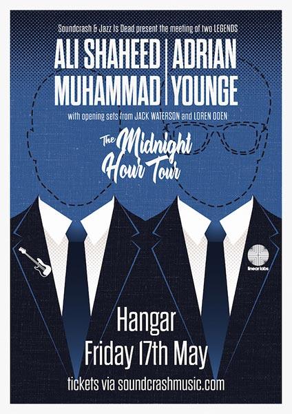 Adrian Younge & Ali Shaheed Muhammad at Hangar on Fri 17th May 2019 Flyer