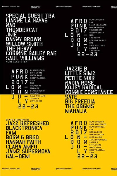 Afropunk at Printworks on Sat 22nd July 2017 Flyer