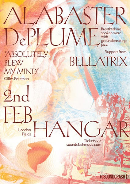 Alabaster dePlume at Hangar on Sat 2nd February 2019 Flyer