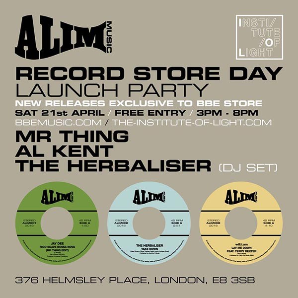 Alim Music Launch Party at The Institute of Light on Sat 21st April 2018 Flyer