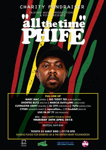 All The Time Phife! at KOKO on Thursday 28th April 2016 Flyer
