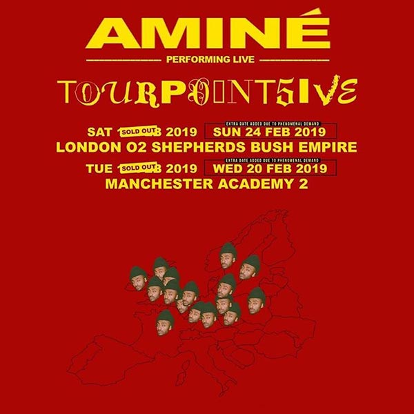 Aminé at Shepherd's Bush Empire on Sunday 24th February 2019 Flyer